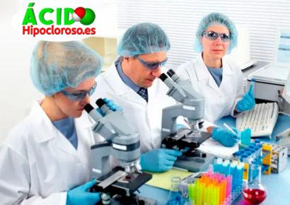 Ácido hipocloroso: Estudios de gel para la limpieza de las manos